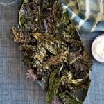 Snack : Crispy Kale with Lemon-Yogurt Dip